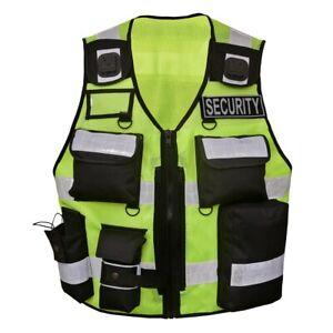 Sicherheitsweste Warn Weste Einsatzweste Security Schutzweste Leuchtweste Patch