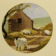 """SHEEP TRACK Counted Cross Stitch Kit - Size 10"""" x 10"""" HJC-244 - FRREE SHIPPING"""