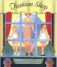 VINTGE UNCT 1938 BAILEY'S  FASHION SHOP PAPER DOLL~ORG SZ~LASR REPRODCTN FREESH