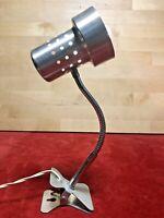 ancienne petite lampe à pince bureau, chevet métal orientable vintage années 60'