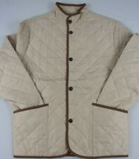 Martin Quilted Jacket with Leather Trim NWT Lightweight and Stylish $49.99 CREAM
