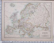 1889 Groß Antik Landkarte ~ Europa Austro Hungarian Monarchy Frankreich