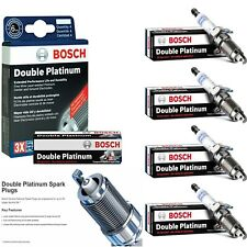 4 Bosch Double Platinum Spark Plugs For 2015-2017 VOLKSWAGEN GTI L4-2.0L