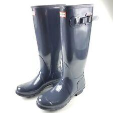 New Hunter Original Womens Size 10 Tall Dark Slate Gloss Rain Boots