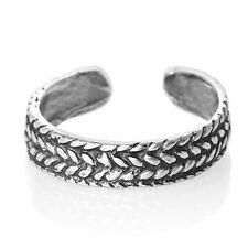 Toe Ring Half Finger Open Midi 925 Sterling Silver Braid Weave Wide Rope