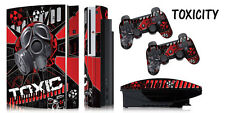 Skin Decal Wrap for PS3 Original Fat Playstation Gaming Console Controller TOXIC