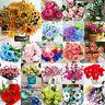 Artificial Fake Rose Silk Flower Wedding Party Bridal Bouquet Office Home Decor