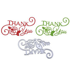 Vivid Craft  Thank You Letter Card Decor Metal cutting Dies Embossing Stencil_UK