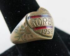 Korea War Brass Ring 1952 Sweetheart Jewelry Trench Art Size 10 [2401]