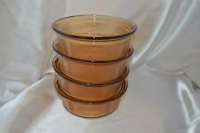 4 CORNING VISION AMBER 1PINT BOWLS --SUPERB CONDITION--