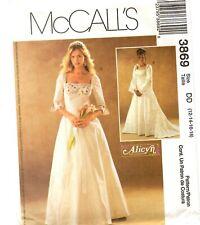 McCall's Sewing Pattern Women's EVENING DRESS Wedding 3869 Alicyn 12-14-16-18 UC