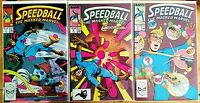 SPEEDBALL #7, 8 & 9 the masked Marvel LOT (1988 MARVEL Comics) FN/VF Comic Book
