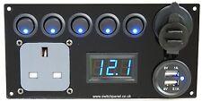 Interruptor Panel/Gancho/USB 12V/240V unidad de control de carga Caravanas Autocaravana VW