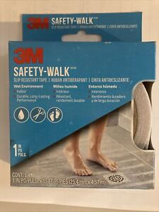 3M SAFETY WALK SLIP RESISTANT TAPE CLEAR 1 INCH X 15 FEET