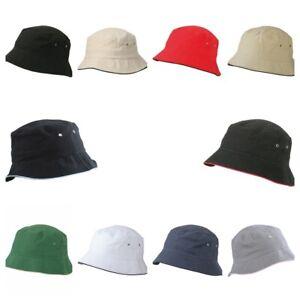 Myrtle Beach Fisherman Piping Hat MB012 Anglerhut Sonnenhut Fischerhut 11 Farben