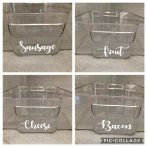 Personalised Mrs Hinch Fridge Storage Trays Draws Cupboard Labels Decal Stickers