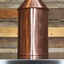 "Copper Moonshine Still 5 gallon DIY kit Alcohol Distiller Pot 2"" Tri Clamp Top"