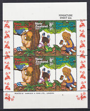 New Zealand 1977 Nature Health YT BF041 SG MS1152 Childs stamps MNH** Luxe