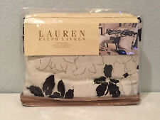 Ralph Lauren Port Palace Floral King Bedskirt Bed Skirt Black White