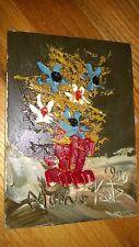 """Morris Katz Original Oil Painting 5"""" x 7"""" Signed 1980 """"A VERY ROMANTIC BOUQUET"""""""
