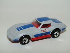 Matchbox Superfast No 62 Chevrolet Corvette Grey Red Base Pace Car Near Mint UB