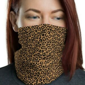 Cheetah Face Mask, Washable, Reusable, Neck gaiter, Animal Print, Nude Color II