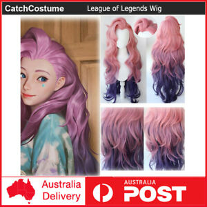 LOL League of Legends KDA The Baddest Seraphine Cosplay Wig Pink Mix Purple Hair