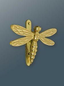Brass Bee Door Knocker - Brass Finish - Solid Brass Dragonfly Door Knocker