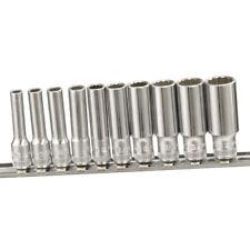 "Genius Tools 10 Piece 1/4""Dr SAE Deep Hand Socket Set (12-Point) TW-210SD"