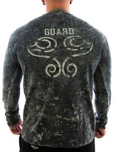 Rusty Neal Longshirt Guard anthrazit Männer Sport,Freizeit lang Arm Shirt SALE