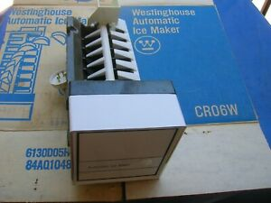 Westinghouse Icemaker crescent unit Genuine OEM  CRO6W + front cover, WH + arm