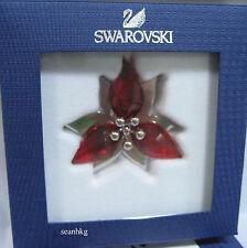 Swarovski 5064278 Poinsetta Ornament Silver Tone, Red Crystal Authentic MIB