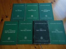 SET (7 BOOKS) FORD MOTOR COMPANY (FORDSON TRACTOR) MOTOR VEHICLE MECHANISM