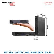 Lenovo ThinkCentre M73 Tiny desktop Core i5-4570T 2.9Ghz 4GB 500GB Free wifiW10p