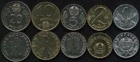Ungarn Münzensatz #4. 1990 (5 Münzen. f-Unz-Unz)