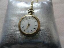 Wind Up Necklace Pendant Watch Vintage Swiss Made Kelbert Mechanical