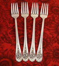 4 Grille Viande Dinner Forks JUBILEE Rogers 1953 Vintage Silverplate