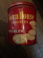 Vintage Keebler Town House Ovalitas Crackers Tin