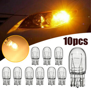 10x T20 Yellow Car DRL Turn Signal Stop Brake Light Tail Sidelight Halogen Bulbs