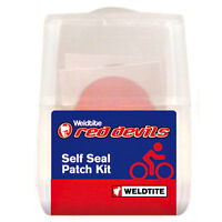 WELDTITE RED DEVILS SELF SEAL BIKE CYCLE INNER TUBE PUNCTURE REPAIR PATCHES KIT