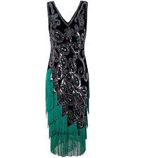 1920s Flapper Dress 20's Evening Party Wedding Gowns Vintage 50s Style Plus Size