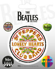 The Beatles (Sgt. Pepper) 5 Vinyl Stickers Pack * OFFICIAL PRODUCT *