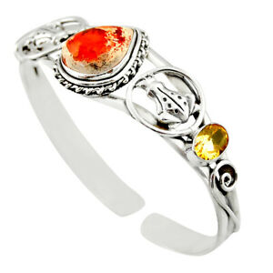 republic day sale 16.02cts mexican fire opal adjustable bangle d47203