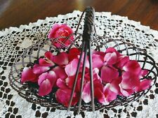 FANTASTIC VINTAGE Intricately Woven Wire Basket SMALL