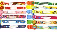 12 designs child safety wrist band kids infoband waterproof reuseable wristban