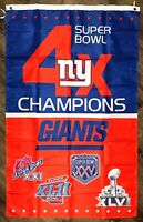 New York Giants NFL Super Bowl Championship Flag 3x5 ft Sports Banner Man-Cave
