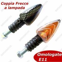 COPPIA FRECCE LAMPADA CARBON CORTE PER PIAGGIO NRG Power DD 2004 2005 2006 2007