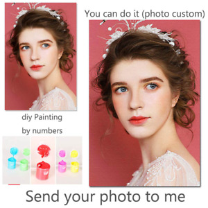Personality Photo Customized DIY Painting by Numbers Picture Drawing Coloring by