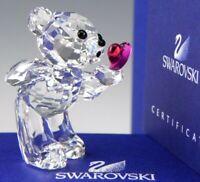 Swarovski Austria Crystal Figurine 1016623 BLOWING KISSES KRIS BEAR Mint Box COA