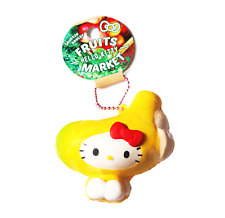 SANRIO HELLO KITTY Fruits Market Banana Cute NIC Kawaii Squishy Keychain Toy